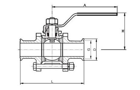 Q81F卫生级快装卡箍球阀结构图纸