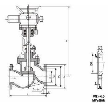 j941w电动截止阀结构图纸