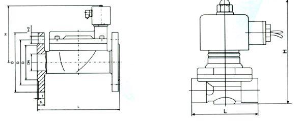 zcs水用电磁阀结构图纸