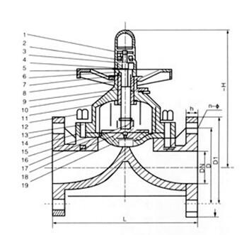 abs隔膜阀结构图纸: 上一个产品