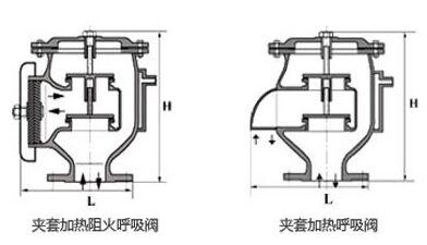 jav型保温夹套呼吸阀结构图纸